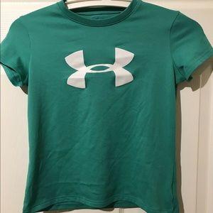 Green under armour sports shirt